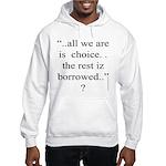 278.allwe are iz choice..? Hooded Sweatshirt