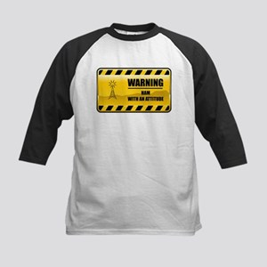 Warning HAM Kids Baseball Jersey