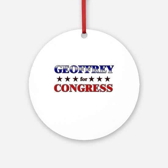 GEOFFREY for congress Ornament (Round)