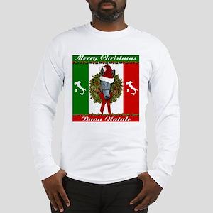 Donkey Buon Natale Christmas Long Sleeve T-Shirt