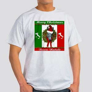 Donkey Buon Natale Christmas Light T-Shirt