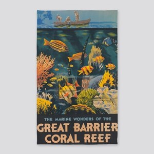 Great Barrier Coral Reef, Australia Vinta Area Rug