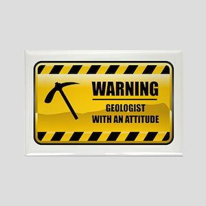 Warning Geologist Rectangle Magnet