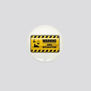 Warning Gamer Mini Button