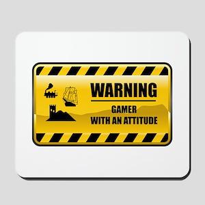Warning Gamer Mousepad