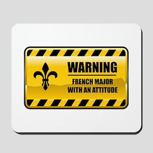 Warning French Major Mousepad