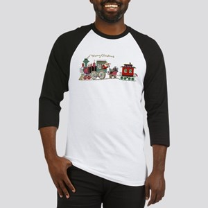 Christmas Santa Toy Train Baseball Jersey