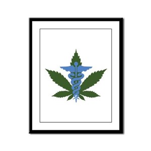 Medical Marijuana Framed Panel Print