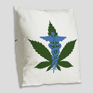 Medical Marijuana Burlap Throw Pillow