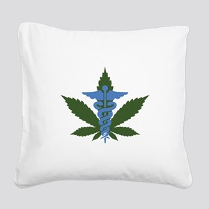 Medical Marijuana Square Canvas Pillow