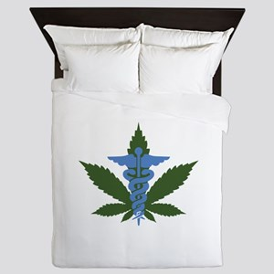 Medical Marijuana Queen Duvet