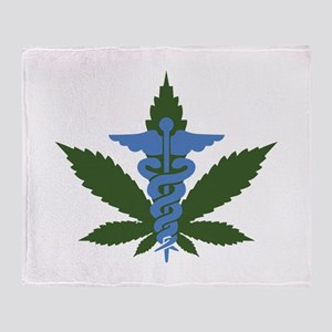 Medical Marijuana Throw Blanket