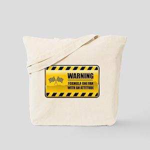 Warning Formula One Fan Tote Bag