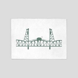 Hawthorne Bridge 5'x7'Area Rug