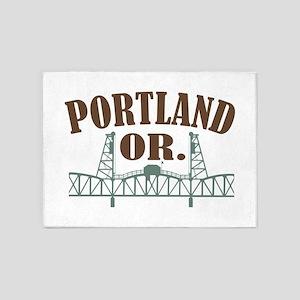 Portland OR 5'x7'Area Rug