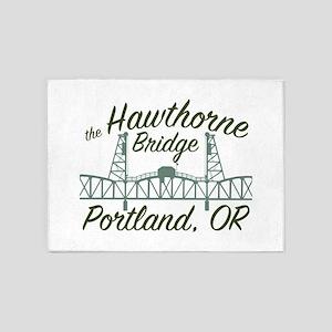 The Hawthorne Bridge 5'x7'Area Rug