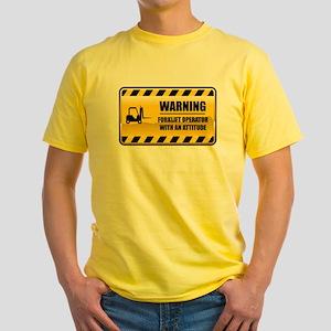 Warning Forklift Operator Yellow T-Shirt
