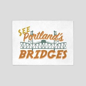 Portlands Bridges 5'x7'Area Rug