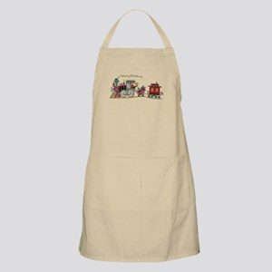 Christmas Santa Toy Train Apron
