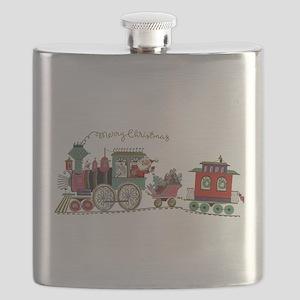 Christmas Santa Toy Train Flask