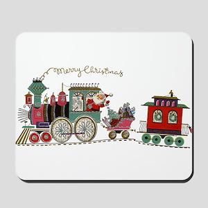 Christmas Santa Toy Train Mousepad