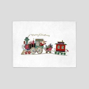 Christmas Santa Toy Train 5'x7'Area Rug