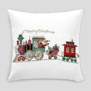 Christmas Santa Toy Train Everyday Pillow