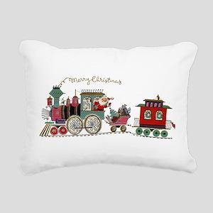 Christmas Santa Toy Trai Rectangular Canvas Pillow