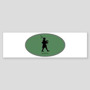 Bagpipes (euro-green) Bumper Sticker