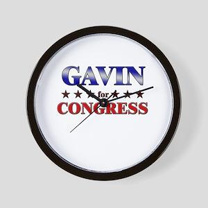 GAVIN for congress Wall Clock