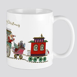 Christmas Santa Toy Train Mugs