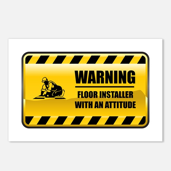 Warning Floor Installer Postcards (Package of 8)