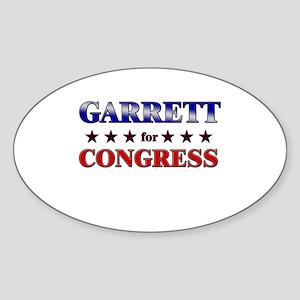 GARRETT for congress Oval Sticker