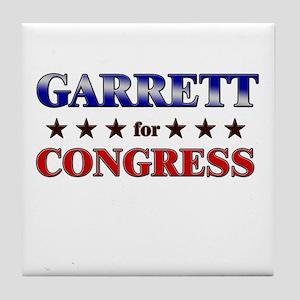 GARRETT for congress Tile Coaster