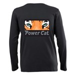 Power Cat Plus Size Long Sleeve Tee