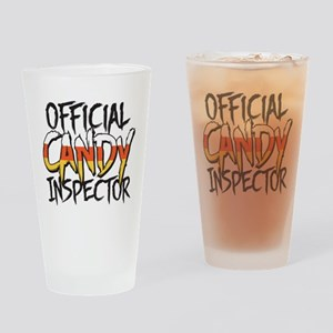 Official Candy Inspector Drinking Glass