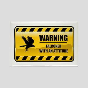 Warning Falconer Rectangle Magnet