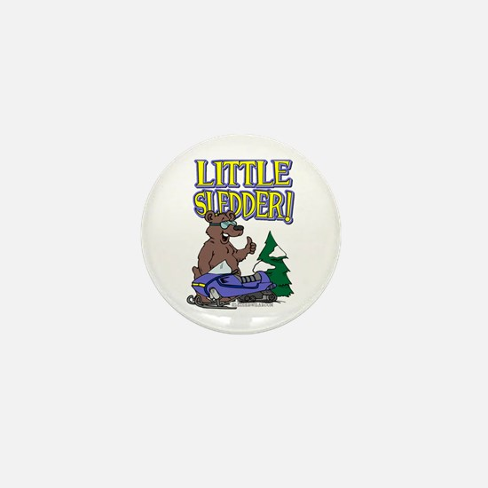 Little Sledder Mini Button