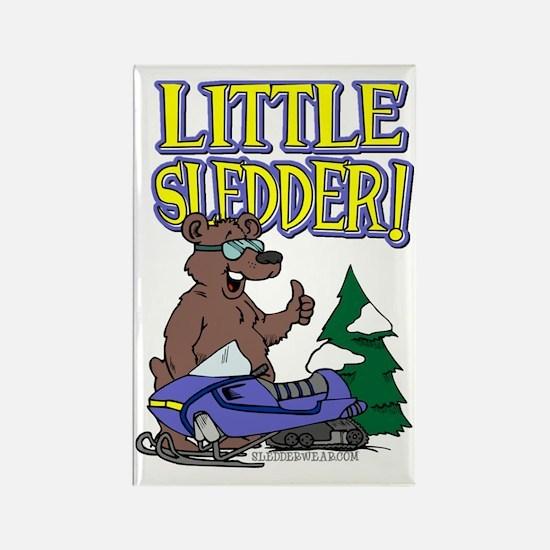 Little Sledder Rectangle Magnet