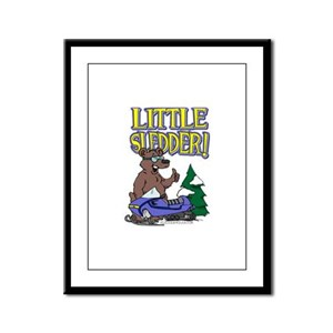 Little Sledder Framed Panel Print