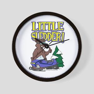 Little Sledder Wall Clock