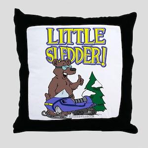 Little Sledder Throw Pillow