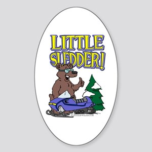 Little Sledder Oval Sticker