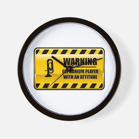 Warning Euphonium Player Wall Clock