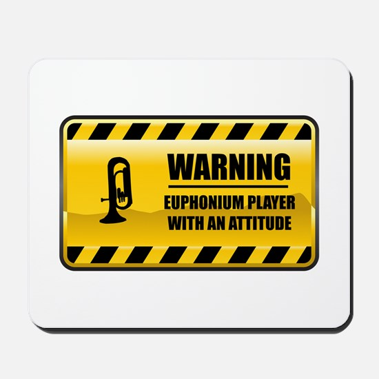 Warning Euphonium Player Mousepad