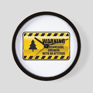 Warning Environmental Engineer Wall Clock