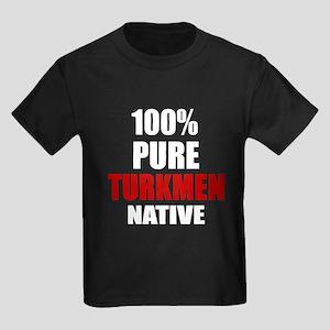 100 % Pure Turkmen Native Kids Dark T-Shirt