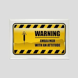 Warning Embalmer Rectangle Magnet
