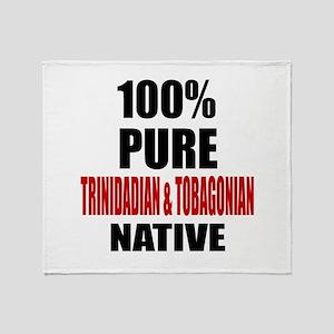 100 % Pure Trinidadian & Tobagonian Throw Blanket