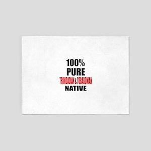 100 % Pure Trinidadian & Tobagonian 5'x7'Area Rug